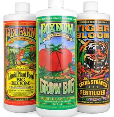 Fox Farms Nutrient Trio for Hydroponics