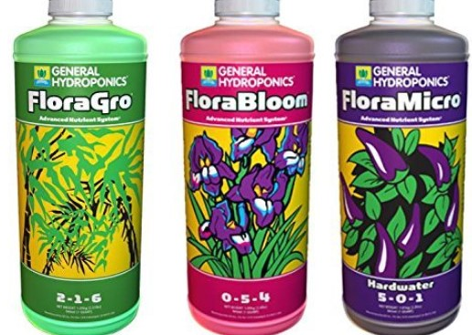 General Hydroponics Flora Series Nutrient Trio